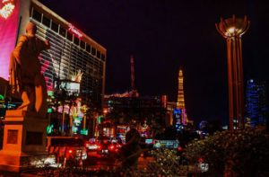 History Outside at night land based casinos